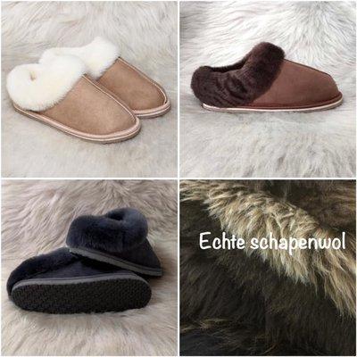Schapenwollen pantoffels Laag model