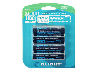 OL 18650UHD4PACK / Olight 18650 ACCU 3500mAh SPECIAL op blister 4st