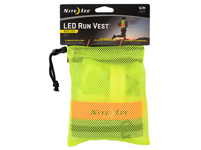 NI LRVS-33-R8 / Nite Ize LED Running Vest SM/MD Neon Yellow