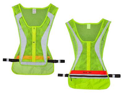 NI LRVL-33-R8 / Nite Ize LED Running Vest LG/XL Neon Yellow