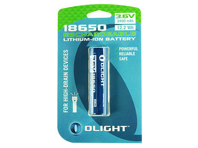 OL 18650HP / Olight 18650 3400mAh op blister