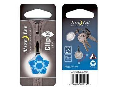 NI NCL-03FL / Nite Ize ClipLit LED Blue Flower
