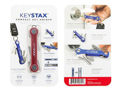 KeySmart KeyStax Compact Keyholder Clam